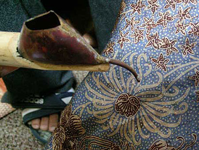 Indonesia culture. People proudly wore batik Indonesia, because batik is